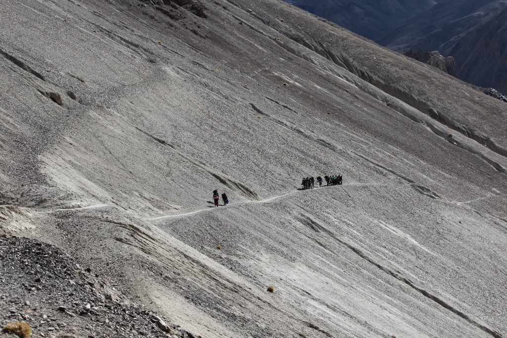walking in zanskar