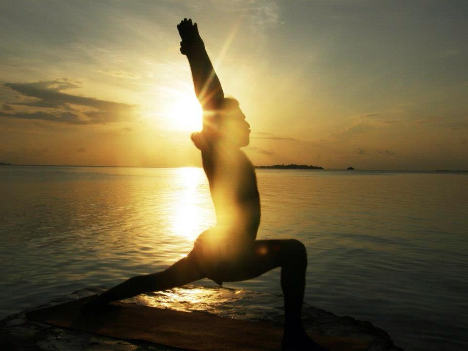 Unser Freund Vinod beim Yoga