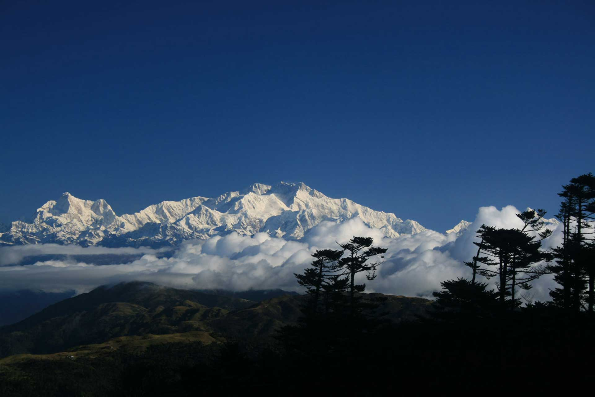 Der mächtigste Berg Sikkims und der 3.-höchste der Welt: Khanchendzonga
