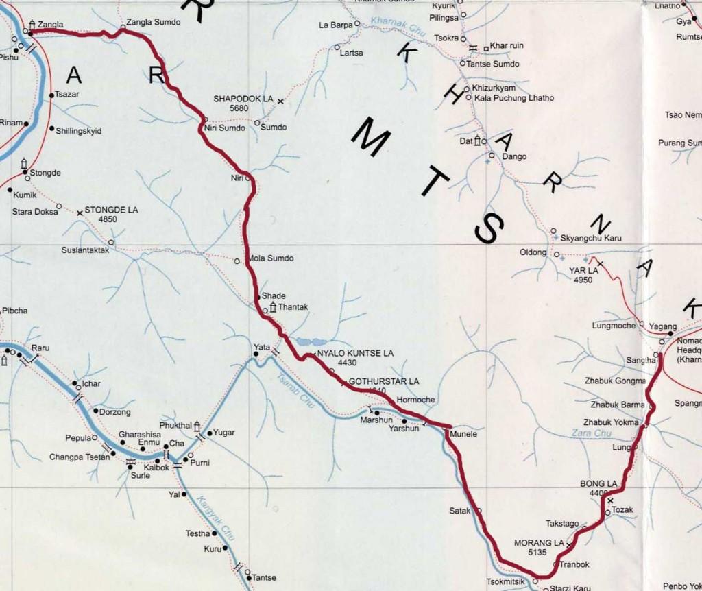 Zangla-shade-sangtha trek