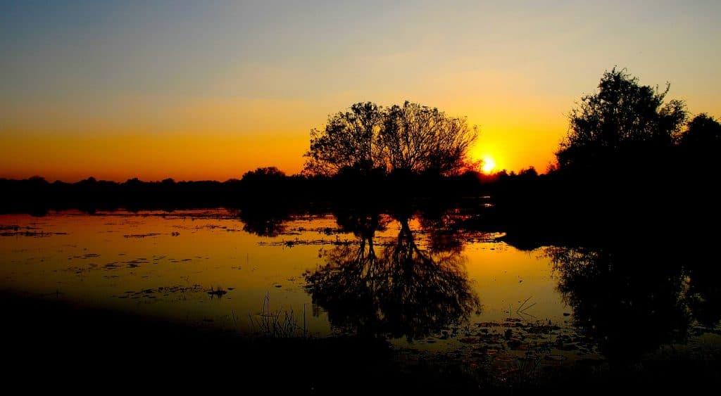 Sonnenuntergang in Anuradhapuraya