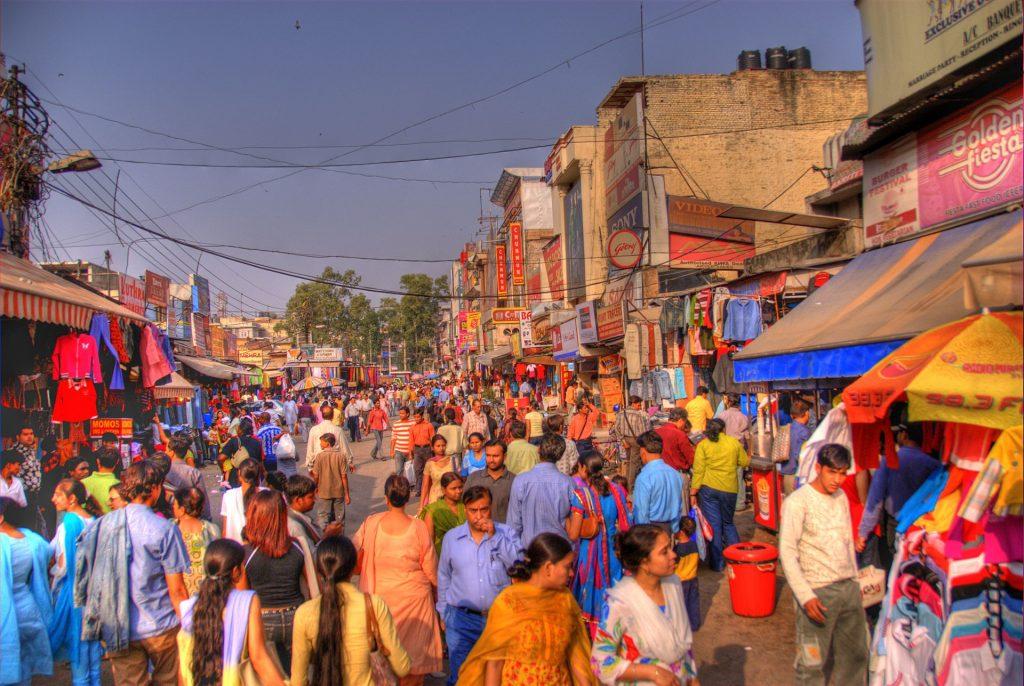 Lajpat Nagar Markt in Delhi
