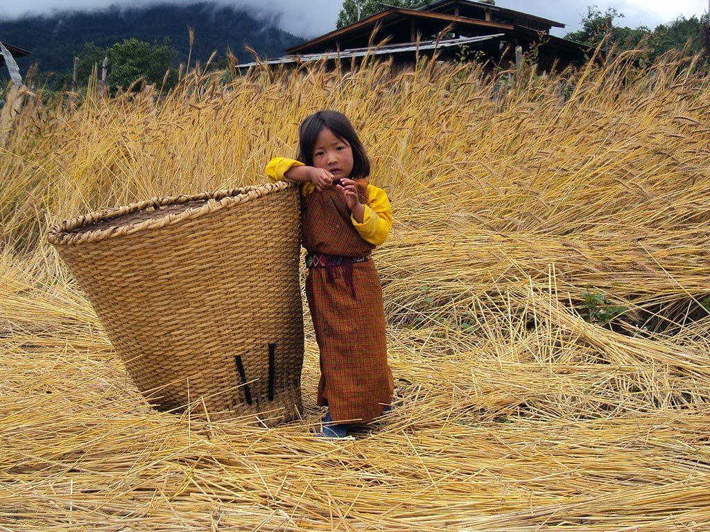 Mädchen Bhutan